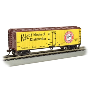 BACHMANN HO 40' Wood-Side Reefer Roberts Meat of Distinction