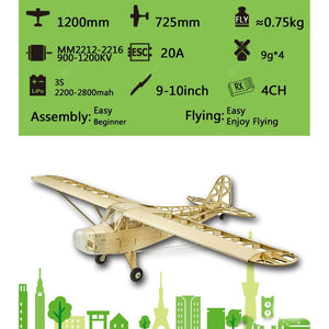 DANCING WINGS HOBBY S23 EP 1.2m J3 Cub  Balsa Kit