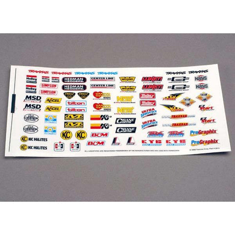 TRAXXAS DECAL SHEET RCING SPONSR (2514)