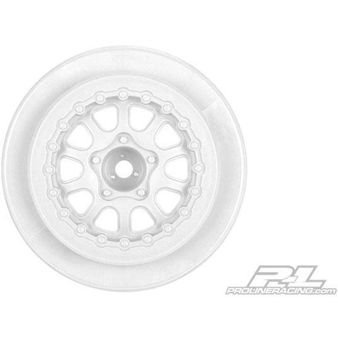 "PROLINE Renegade 2.2""/3.0"" White Wheels (2) for Slash"