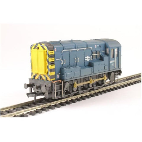 Image of BRANCHLINE OO Class 08 08818 BR Blue Wasp Stripes Weathered
