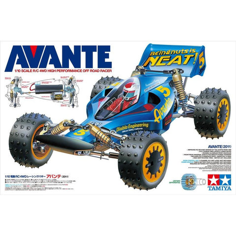 TAMIYA 1/10 Avante 4WD Off Road Racing Car