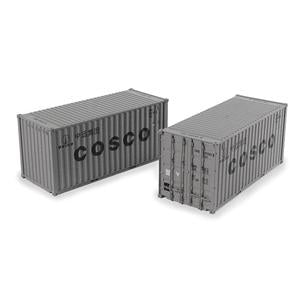 BRANCHLINE OO 20ft Containers'Cosco' (x2)