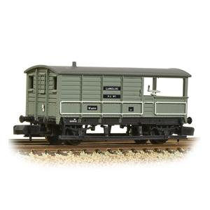 Image of GRAHAM FARISH N GWR 20T 'Toad' Brake Van BR Grey (Early)