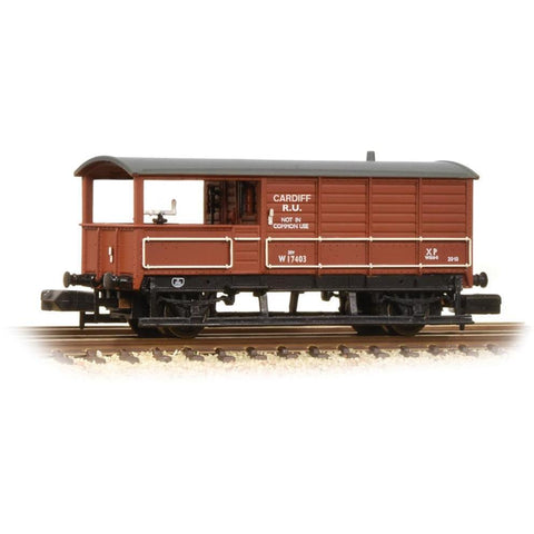 GRAHAM FARISH N 20 Ton Toad Brake Van BR Bauxite (Early) (3