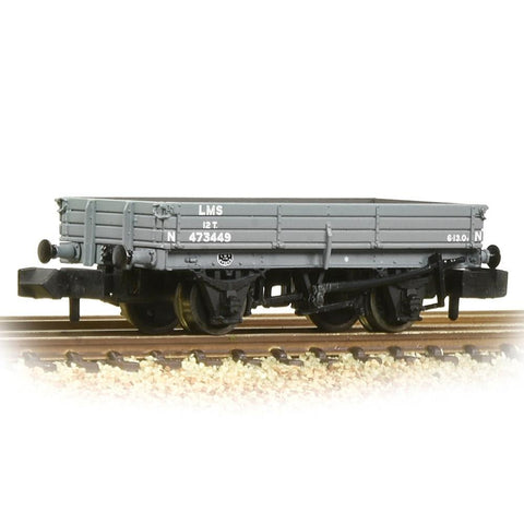 GRAHAM FARISH N 3 Plank Wagon LMS Grey (377-502B)