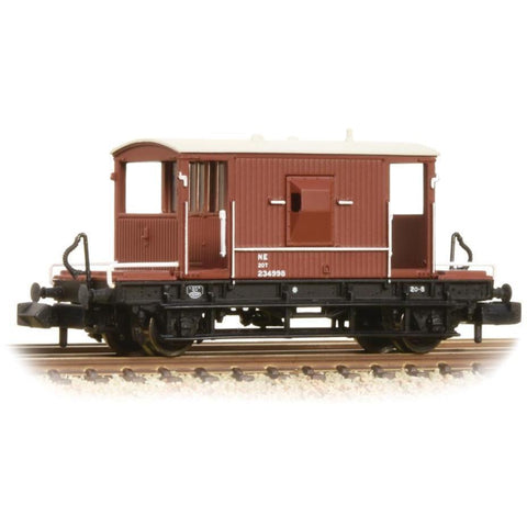 GRAHAM FARISH N 20 Ton Brake Van LNER Oxide (377-527C)