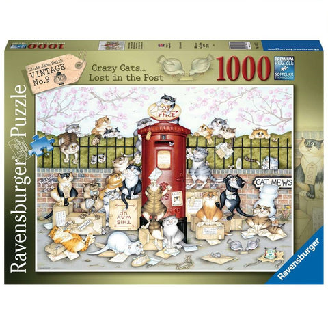 Ravensburger Crazy Cats Lost in the Post 1000 pc