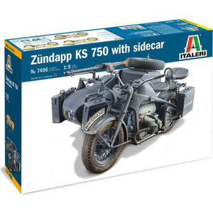 ITALERI 1/9 Zundapp KS 750 with Sidecar