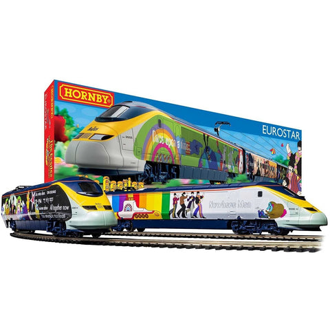 HORNBY Eurostar Yellow Submarine Electric Model Train Set