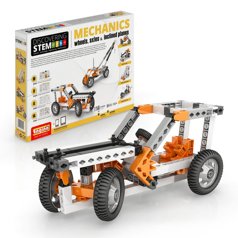 ENGINO STEM Mechanics: Wheels, Axles & Inclined Planes