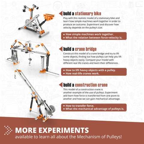 Image of ENGINO STEM Mechanics: Pulley Drives