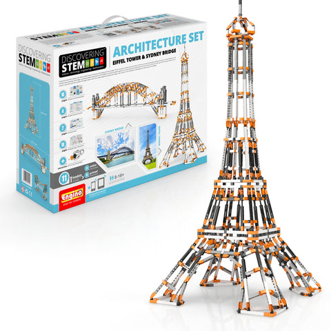 Image of ENGINO STEM Architecture Set: Eiffel Tower And Sydney Bridg