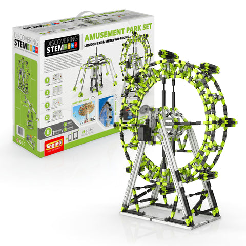 Image of ENGINO STEM Amusement Park Set: London Eye And Ferris Wheel