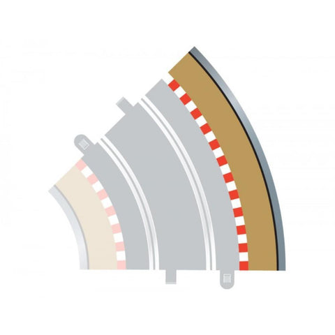 SCALEXTRIC Bordees & Barriers 45 Degrees Outer (For C8206)