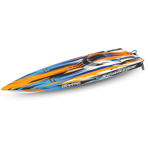 "TRAXXAS R6 Spartan Brushless 36"" Boat TSM - Orange"