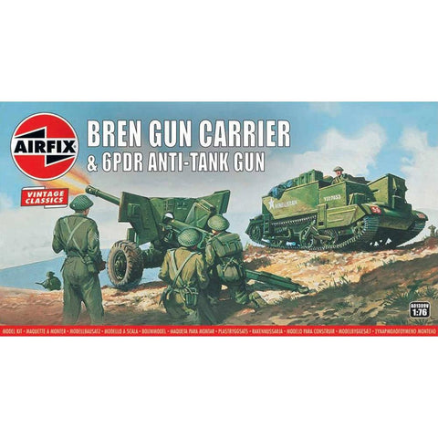 Image of AIRFIX BREN GUN CARRIER & 6PDR AT GUN 1:76(58-01309V)