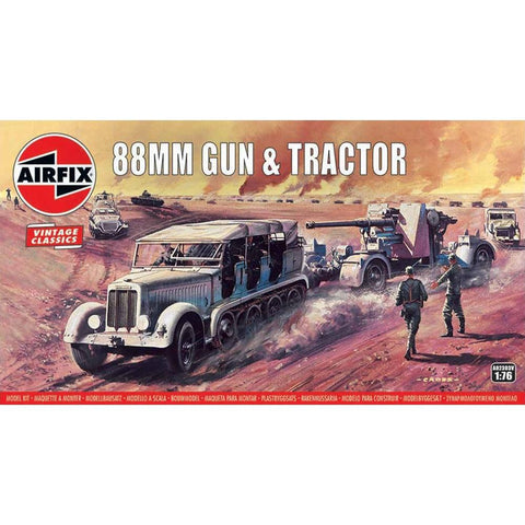 Image of AIRFIX 1/76 88MM Flak Gun & Tractor