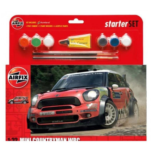 AIRFIX 1/32 Mini Countryman WRC Starter Set