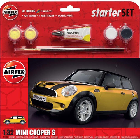 Image of AIRFIX LARGE STARTER SET - MINI COOPER S 1:32 (58-55310)