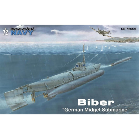 "Image of SPECIAL HOBBY 1/72 Biber ""German Midget Submarine"""