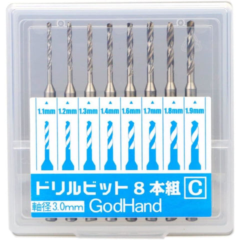 GODHANDS Drill Bit 1.1 - 1.9mm set of 8 (C)