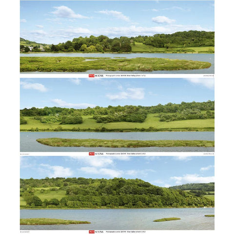 PECO River Valley Backscene - 3 Sheets