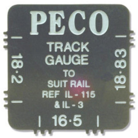 PECO 16.5, 18.2 and 18.83mm Track Gauge Steel