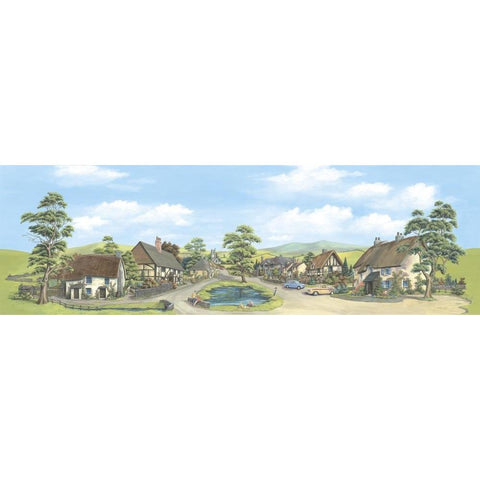 PECO Medium Village With Pond Backscene