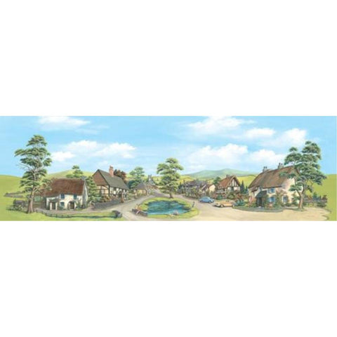PECO VILLAGE WITH POND (small) 340mm x 190mm