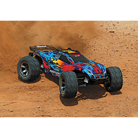 Image of TRAXXAS Rustler 4X4 VXL - Red