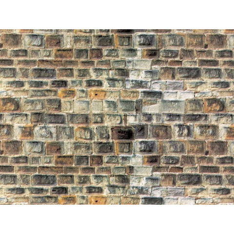 VOLLMER HO Sandstone Grey Wall (Embossed Card)