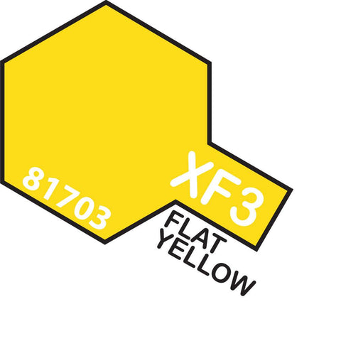 Image of TAMIYA Acrylic XF-3 FLAT YELLOW