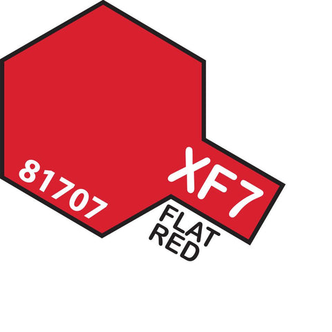 Image of TAMIYA Acrylic XF-7 FLAT RED