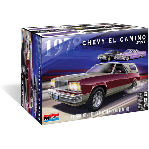 REVELL 1/24 Monogram 1978 Chevy El Camino 3 in 1