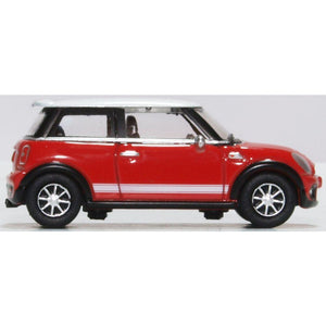 OXFORD 1/76 New Mini Chilli Red/White