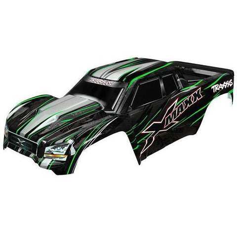 Image of TRAXXAS BODY, X-MAXX, GREEN (PAINT, DECALS APPLIED) (7711G)