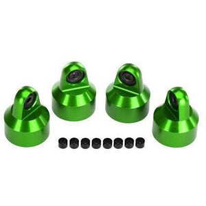 TRAXXAS SHOCK CAPS, ALUMINUM (GREEN-ANODIZED) (7764G)