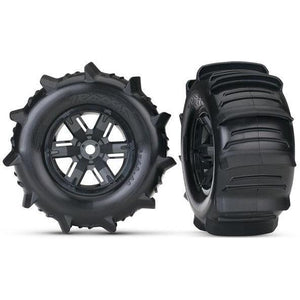 TRAXXAS Tyres & Wheels, Assembled (Left & Right) (2) (7773)