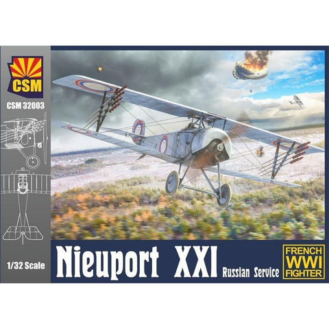 COPPER STATE MODELS 1/32 Nieuport XXI Russian version Plast