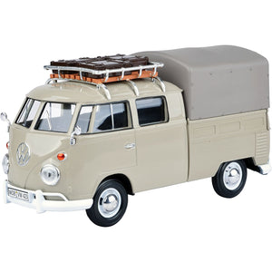 MOTORMAX 1/24 VW Type 2 (T1) Pickup w/Roof Rack & Suit Case