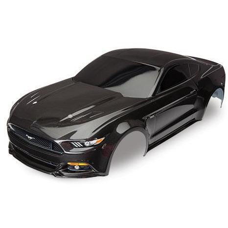Image of TRAXXAS Body, Mustang, Black (Paint,Decals Applied) (8312X)