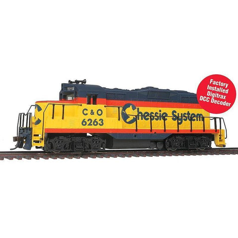 WALTHERS HO EMD GP9M - DCC - Ready to Run -- Chessie System