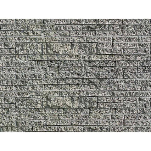 VOLLMER HO Grey Stone Wall (Embossed Card)