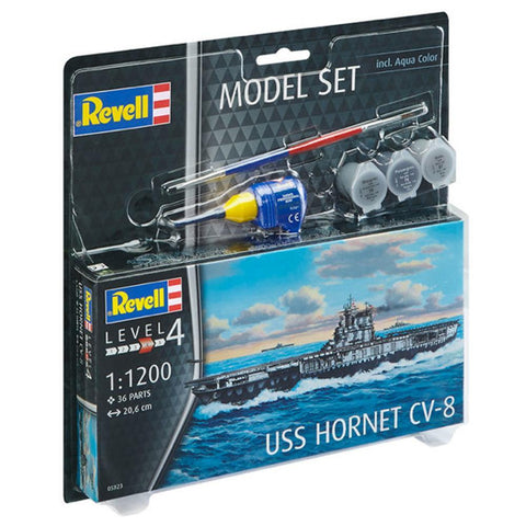 Image of REVELL 1/1200 Model Set USS Hornet (95-65823)
