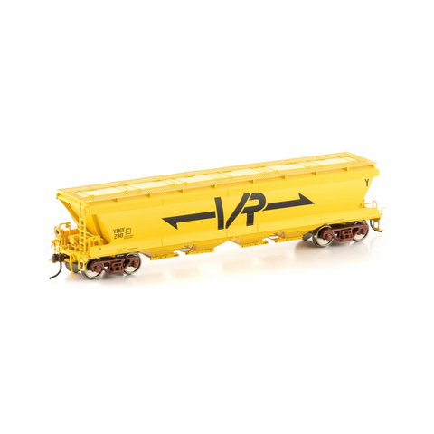 AUSCISION HO - VHGY Grain Hopper VR Yellow 4 Car Pack (#Set 4)