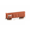 AUSCISION HO - VBBF Box Van, VR Wagon Red with V/Line Logo Aligned Bogies & 4 Louvre Doors 4 Pack