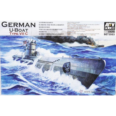 AFV CLUB 1/350 German U-Boat Type VII/C Plastic Model Kit