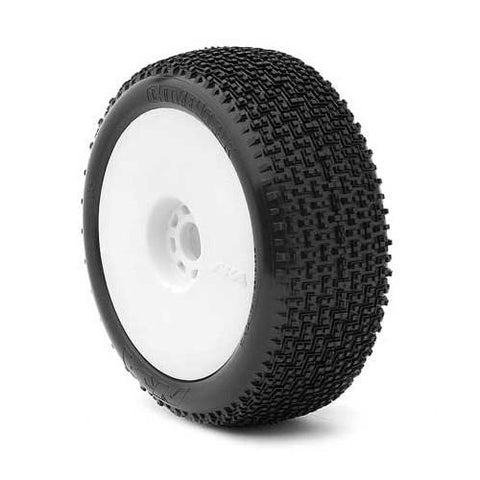 Image of AKA 1/8 Buggy CITYBLOCK (Soft - Long Wear) EVO Wheel Pre-Mounted White