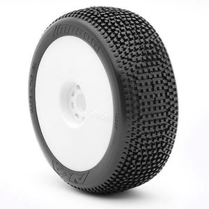 AKA 1/8 Buggy IMPACT (Super Soft - Long Wear) EVO Wheel Pre-Mounted White